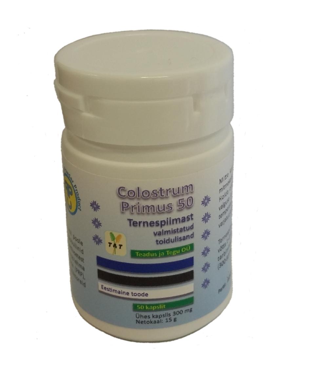 Colostrum Primus 50 – ternespiima pulbri kapslid